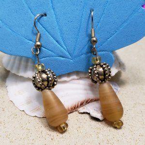 """Art Glass Gold-plated earrings 2"""""""